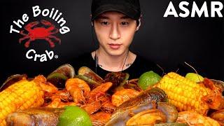 ASMR SEAFOOD BOIL MUKBANG (Shrimp, Mussels &amp Corn) No Talking  EATING SOUNDS  Zach Choi ASMR