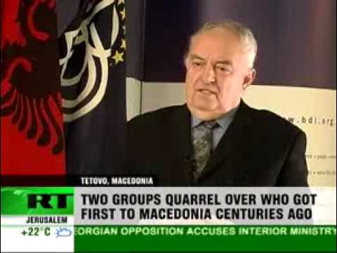 Newshound - Albanian-Macedonian conflict inflamed by new encyclopedia.flv
