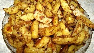 Картофельные дольки в панировке
