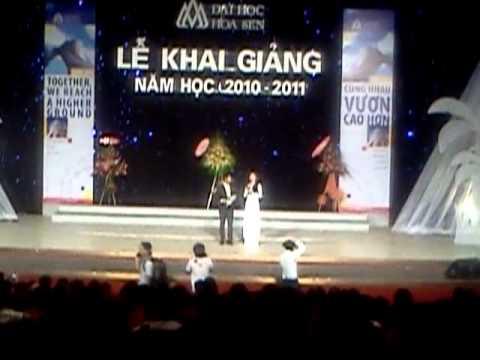 Khai giảng ĐH Hoa Sen 2010 - Hoa Hậu Lưu Thị Diễm Hương