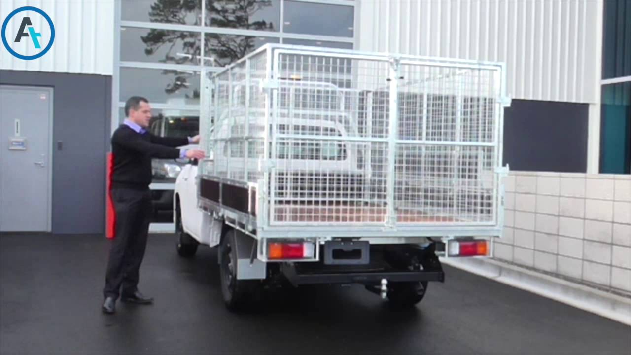 AT Minute - Ute flat deck with a galvanised cage & AT Minute - Ute flat deck with a galvanised cage - YouTube