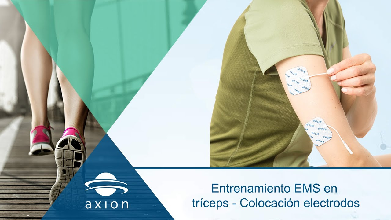 Entrenamiento EMS en tríceps - Colocación electrodos - YouTube