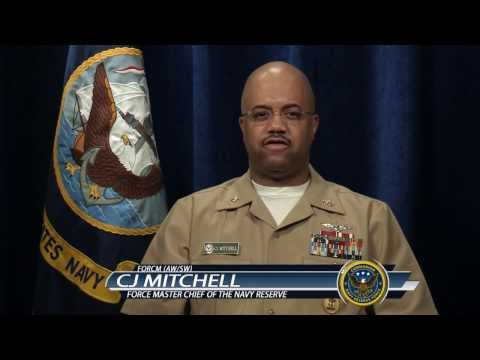 Navy Reserve Force Master Chief, CJ Mitchell, Discusses Transition GPS