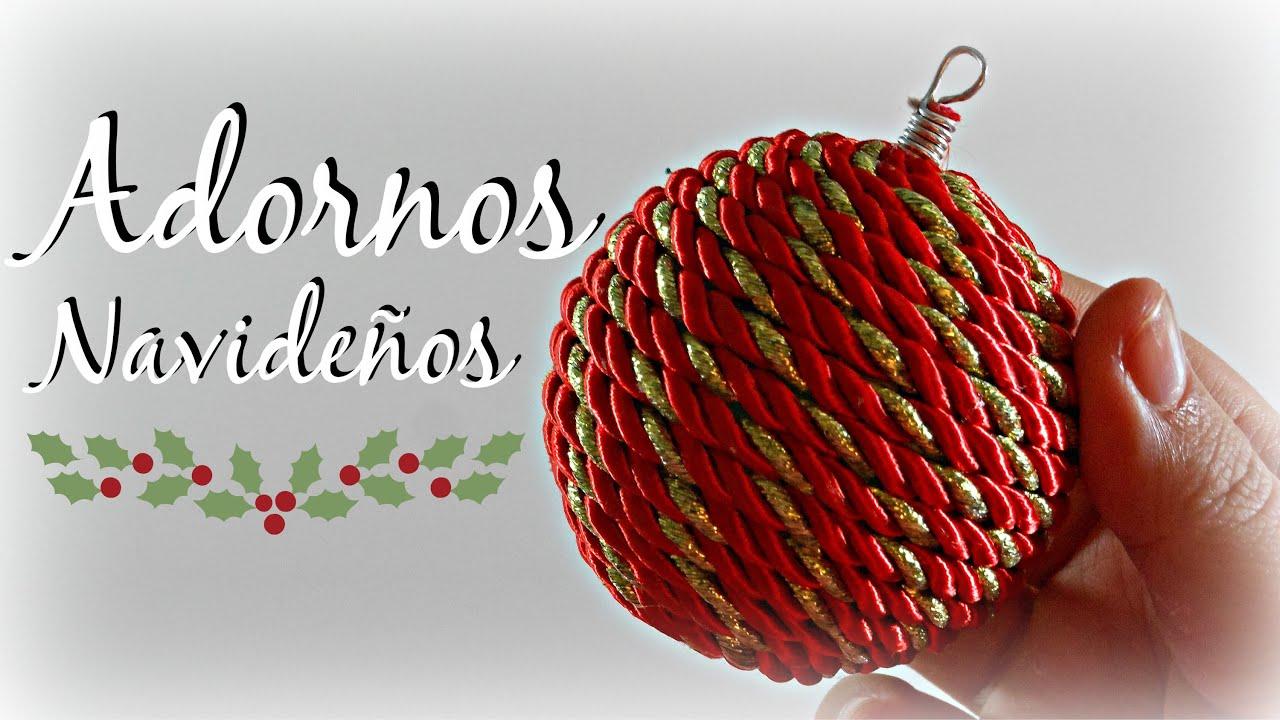 Tutorial c mo hacer un adorno de navidad bolas - Crear christmas de navidad ...