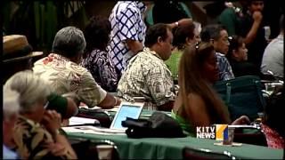 Secretary of the Interior addresses the Native Hawaiian Convention