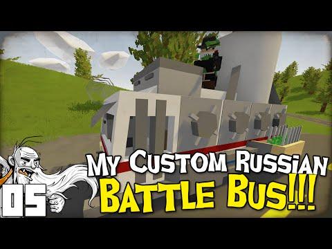 "GangZ Unturned Gameplay - ""MY CUSTOM RUSSIAN BATTLE BUS™!!!"" - Unturned PvP Multiplayer"