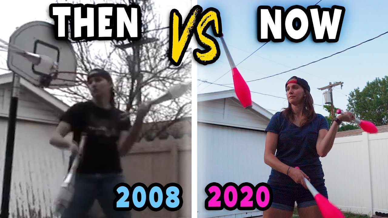 My Juggling THEN vs NOW // Recreating my old juggling video 12 YEARS LATER (2008-2020)