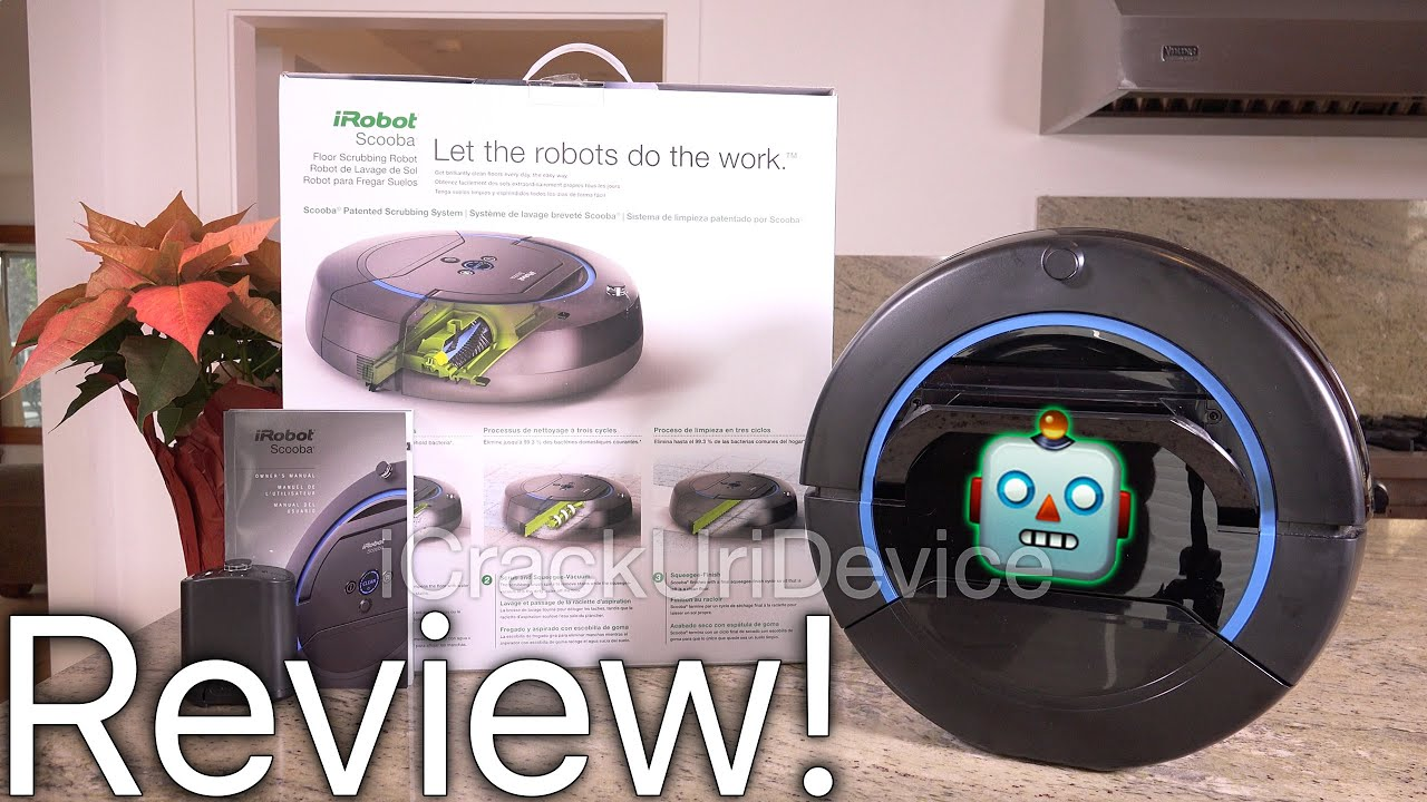 Scooba Mop IRobot Review And Test Unboxing YouTube - Robotic floor washer reviews