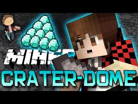 Minecraft: CRATER-BATTLE-DOME w/Mitch & Friends! Dead Ocean!