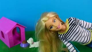 Собачки Перепачкались в Слизи Кукла #Барби Моет Питомцев в Бассейне с Пеной Игрушки Для детей