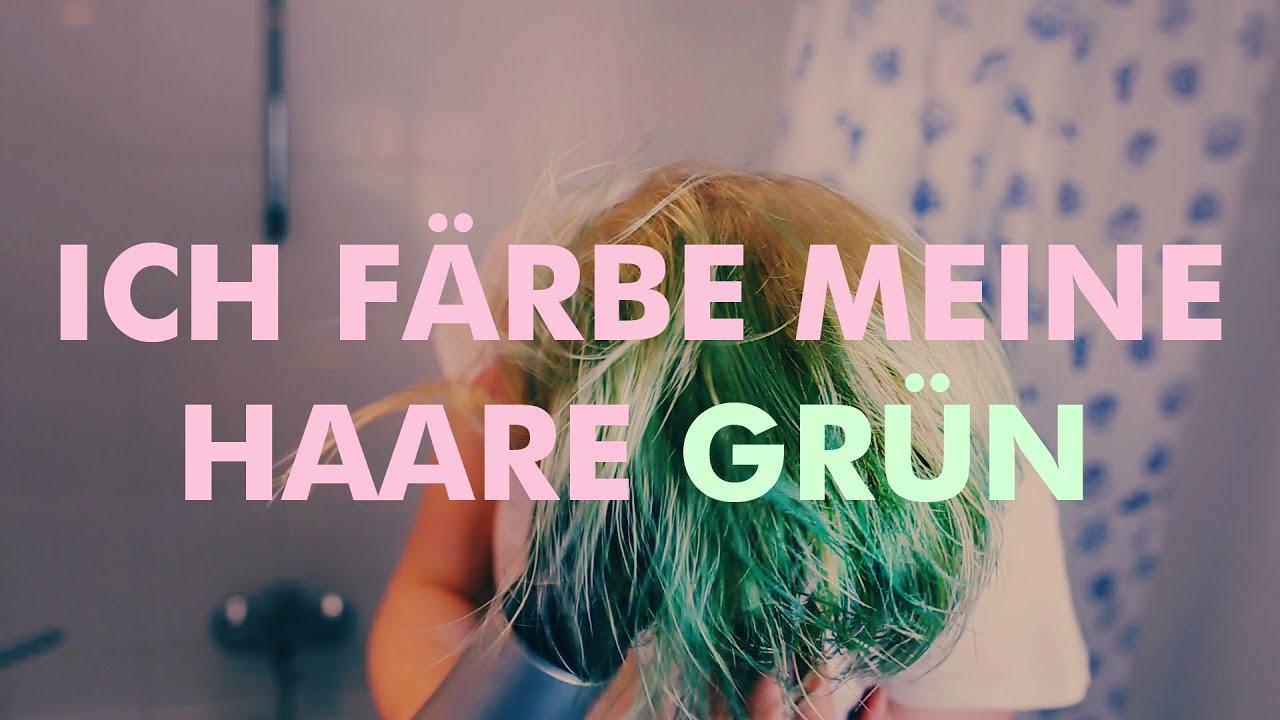 Diy Haare Blondieren Und Grun Farben Youtube