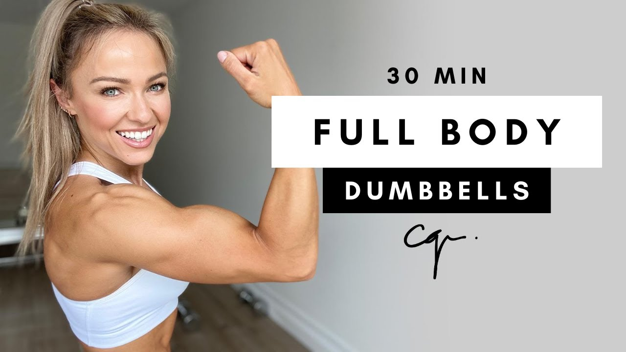 21 Min FULL BODY DUMBBELL WORKOUT at Home   Muscle Building