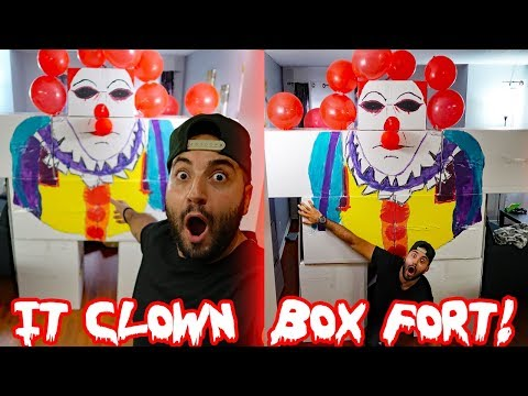 """I CREATED A GIANT """"IT"""" CLOWN BOX FORT AND THIS IS WHAT HAPPENED! PAPA JAKE"""
