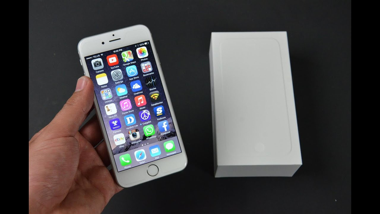 apple iphone 6 white silver 64gb unboxing youtube. Black Bedroom Furniture Sets. Home Design Ideas