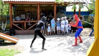 Человек-паук.  Детский ДР на Ранчо дядюшки Бо.