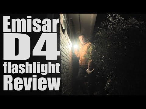 Emisar D4 Flashlight Review. A $40 3300 lumen EDC- one of the smallest brightest torches ever.