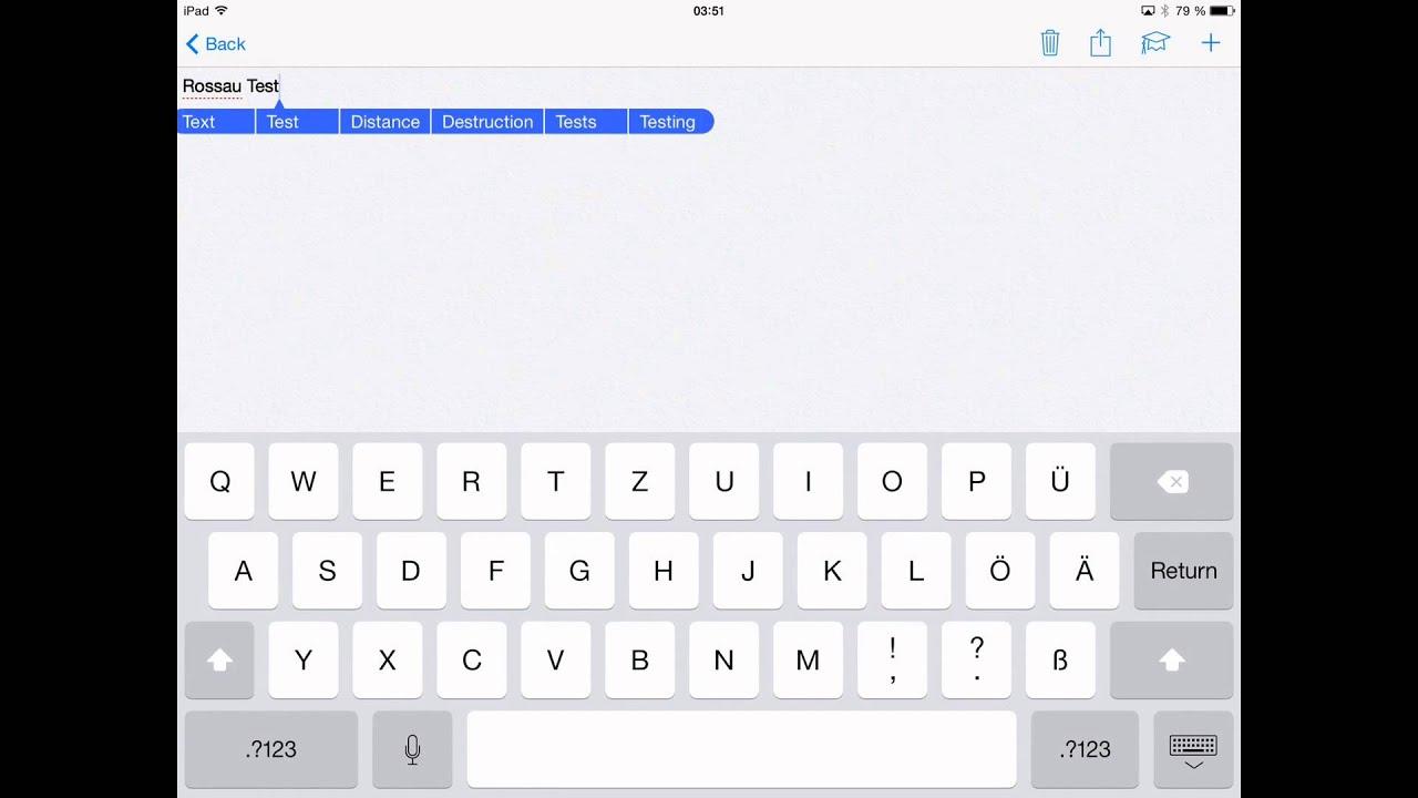 Writable -- iPad Air