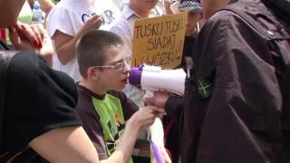 Protest rodziców dzieci niepełnosprawnych 8.06.2012 Warszawa