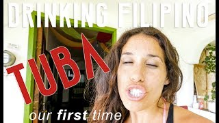FOREIGNERS DRINK HOMEMADE WINE (TUBA) // MOALBOAL PHILIPPINES