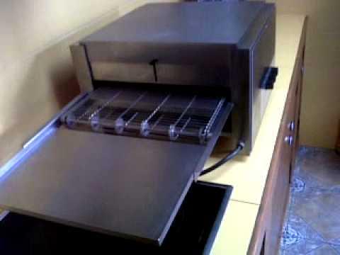 Horno pizzas tostadora de cinta youtube - Maquina de cocinar ...