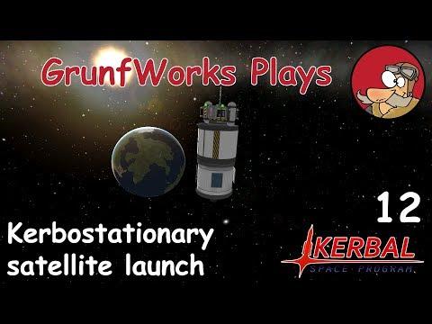Kerbostationary Satellite - KSP Career Mode - ep 12 - Let's Play