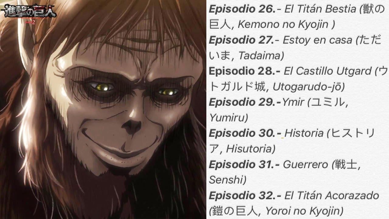 Shingeki No Kyojin Season 2 Sólo 12 Episodios Youtube