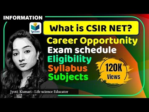 What is CSIR NET?? || CSIR NET-JRF || CSIR NET-LS || OPPORTUNITY || ELIGIBILITY