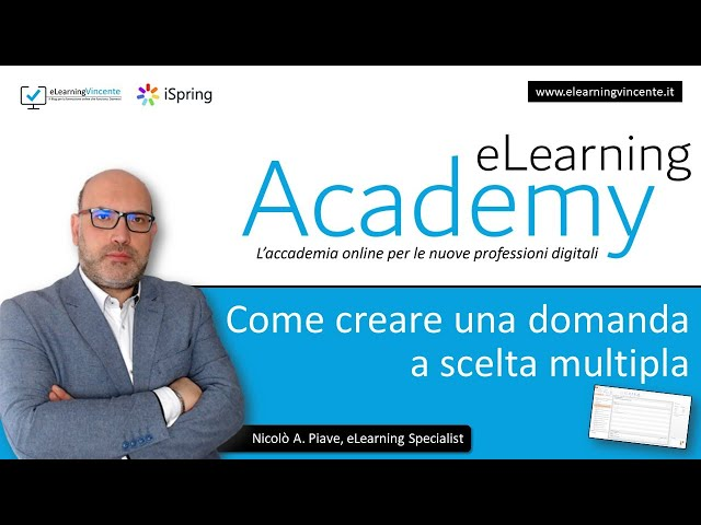 Come creare una domanda a scelta multipla (multiple choice) in iSpring Suite 9.7 - Tutorial italiano