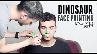 DINOSAUR FACE PAINTING ( JURASSIC WORLD INSPIRED ) I Pills & Bullshit