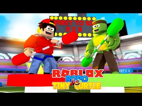 ROBLOX Adventure - ROPO VS TINY TURTLE, FIRST TO 10 WINS!!