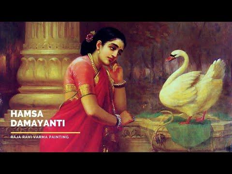 Hamsa Damayanti by Raja Ravi Varma
