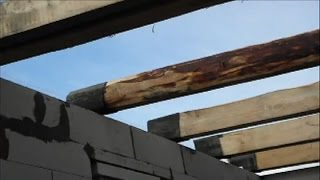 видео Деревянное перекрытие в доме из газобетона