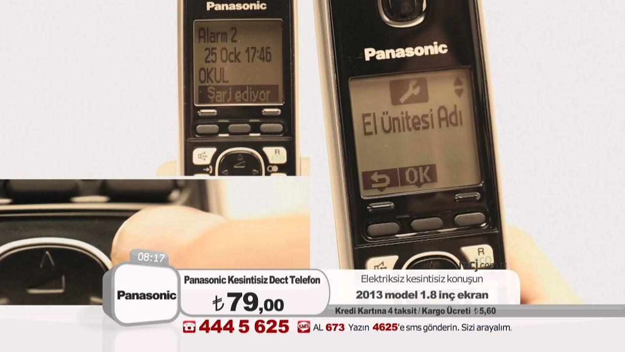 panasonic 6711 kesintisiz dect telefon youtube. Black Bedroom Furniture Sets. Home Design Ideas
