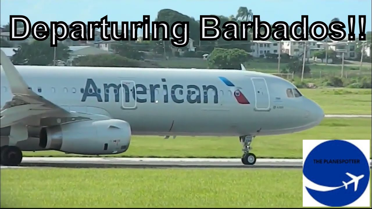 American Airlines A321 Departure From Barbados Youtube