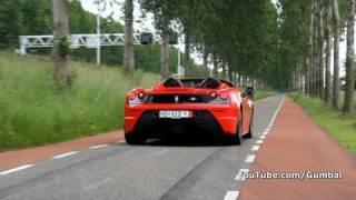 Ferrari Scuderia Spider 16M Accelerating Sound!!