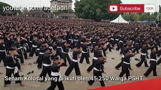Gambar cover PONOROGO - 45.250 Warga PSHT Lakukan Senam Kolosal Pecahkan Rekor