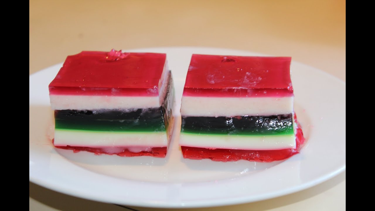 Layered Jelly Squares Simple Desserts