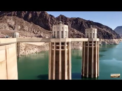 Hoover Dam SUPER LOW WATER LEVEL JULY 2017