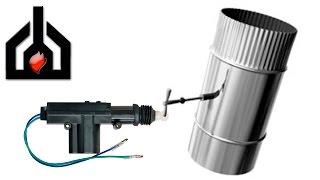 Электрозадвижка поворотная для дымохода // дросель гигант(ОписаниеДанная задвижка была установлена на чердаке дома, в дымоходе камина, для отсечения холодного возду..., 2016-05-07T16:00:35.000Z)