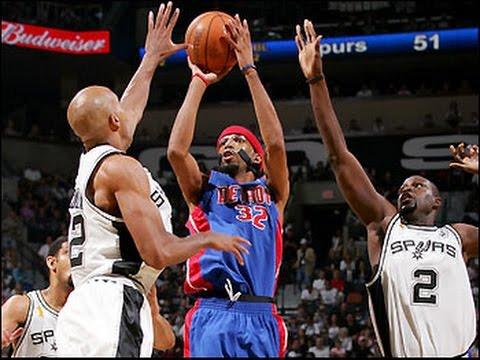2005 NBA Finals Game 1. San Antonio Spurs vs Detroit Pistons