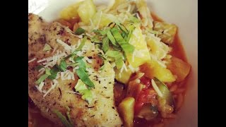 Ava's Flava Episode 98 Sauteed Chicken With Summer Squash,leek And Tomato Orzo