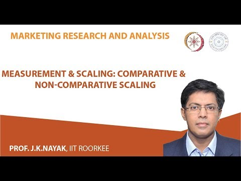 Lecture 10- Measurement & Scaling: Comparative & non comparative scaling