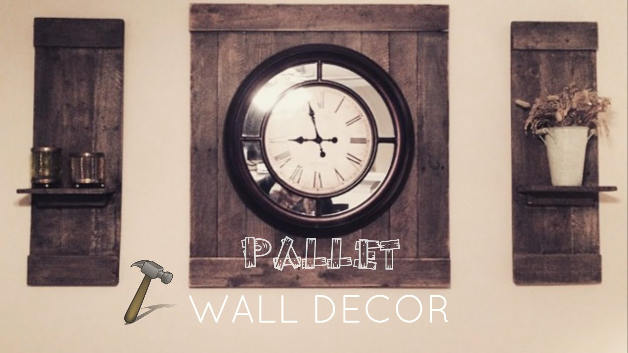 Pallet Wall Decor   YouTube