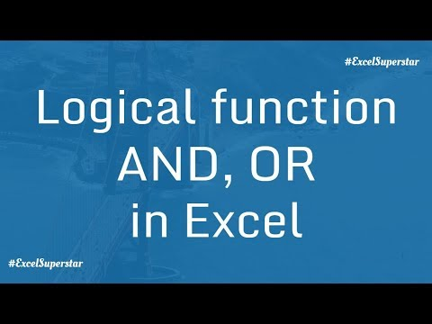 Basics of 2 logical functions - AND, OR Function in Excel | Hindi