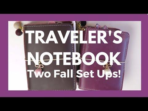 TRAVELER'S NOTEBOOK // Two Fall Foxyfix Set Ups - Flip Through!