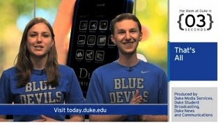 Repeat youtube video The Week at Duke {in 60 Seconds}: Admitted Students; Smoking Study; Film Festival