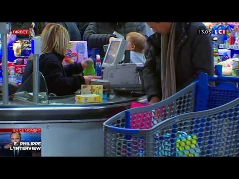 Coronavirus: Ruée sur les supermarchés après les annonces de Macron