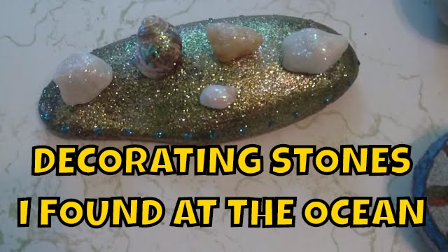 Decorating Stones with melted Crayons and Glitter ~ Children Art ...