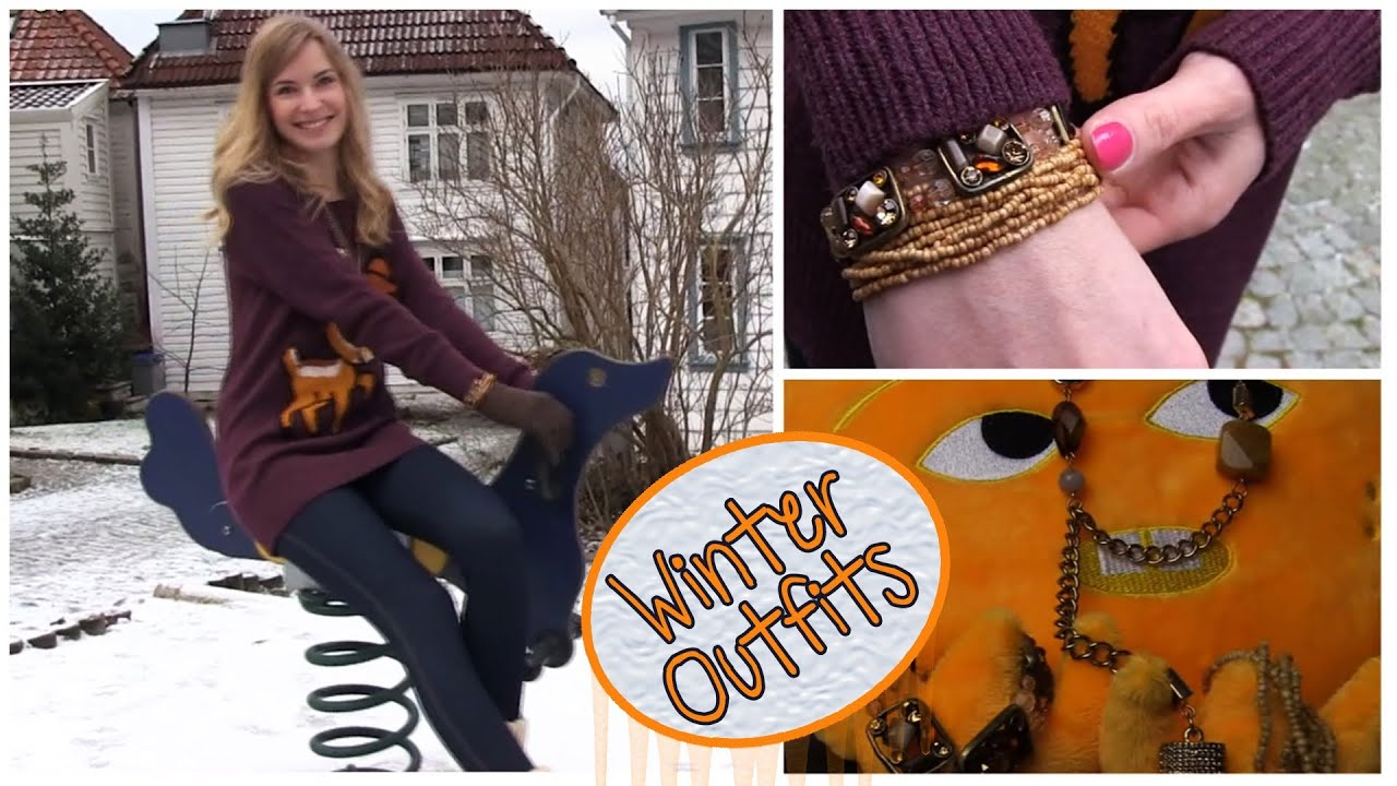 Amazing Winter Outfits! Warm Cozy Cute Party Dress Up Tutorial! In Beautiful Bergen, Norway.