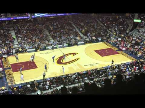 Dunk at Cavs Game